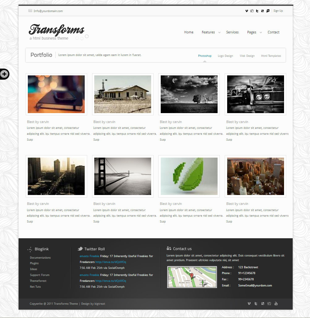 Transform Wordpress theme