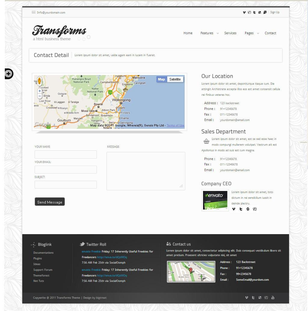 Transform Wordpress theme