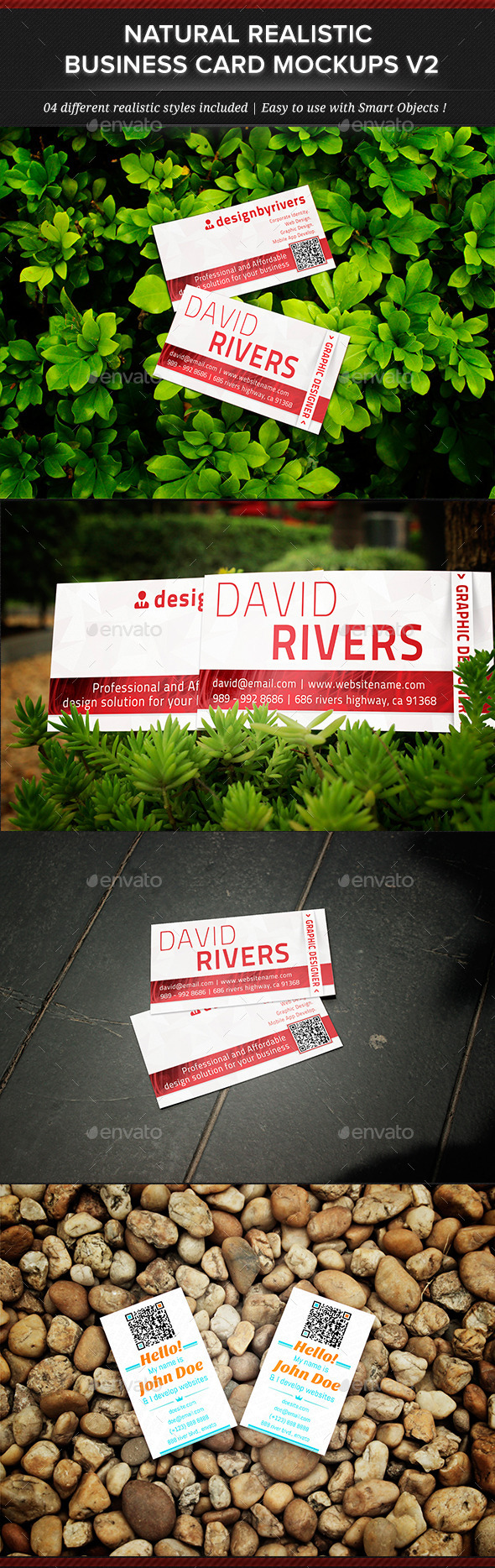 GraphicRiver Natural Realistic Business Card Mockup V2 11834395