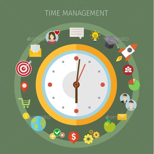 GraphicRiver Concept Of Effective Time Management 11834487
