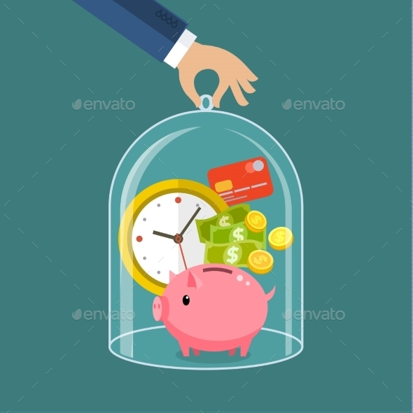 GraphicRiver Concept For Saving Time And Money 11834492