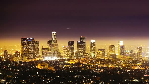 Los Angeles At Night Time Lapse