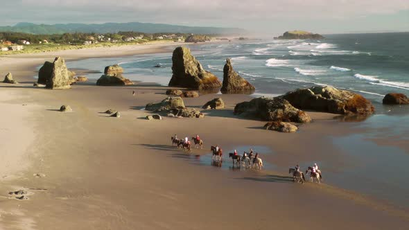 VideoHive Horseback Riding On Bandon Beach 11834620