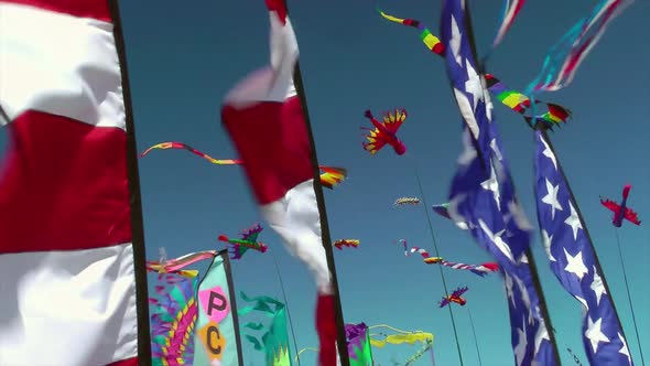 Kites And Banners Blowing In The Wind 1