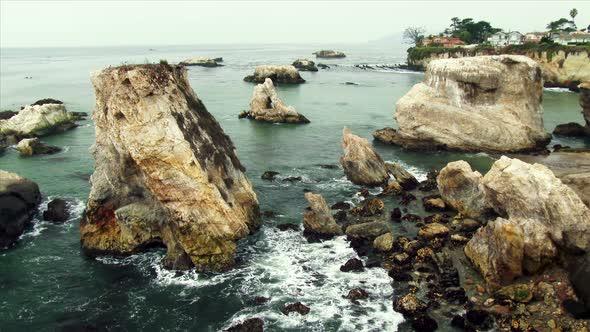 Rocky Coastline In Shell Beach