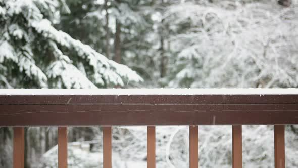 Snow From Balcony