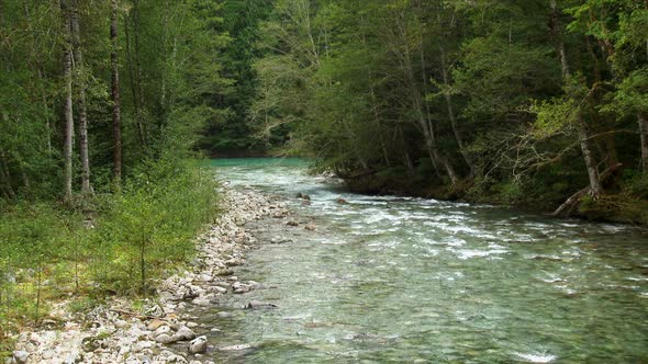 Goodell Creek Merging Into The Skagit River 1