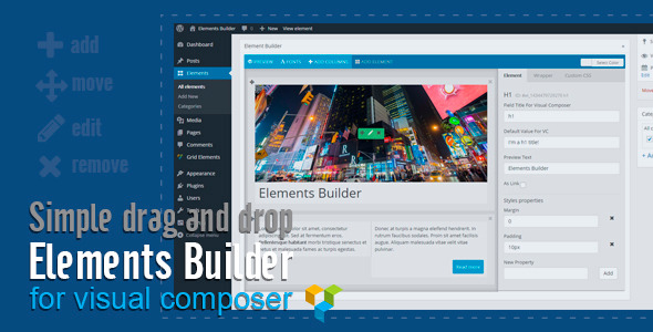 CodeCanyon Elements Builder for Visual Composer 11788903