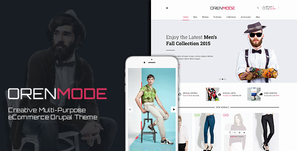 ThemeForest Orenmode Creative Multi-Purpose Commerce Theme 11837425