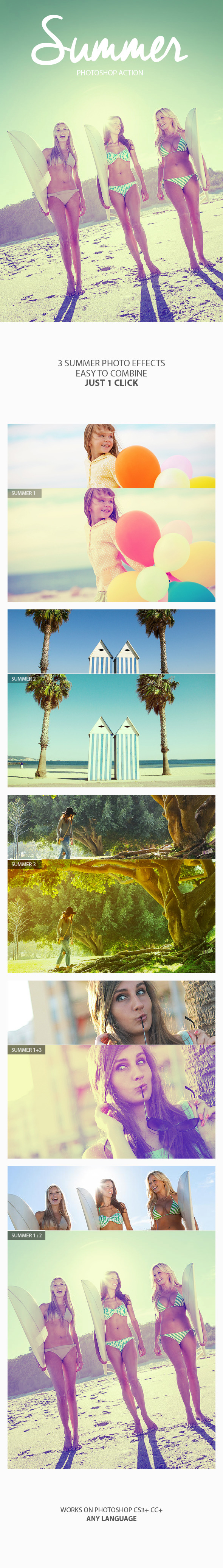 GraphicRiver Summer Photoshop Action 11838603