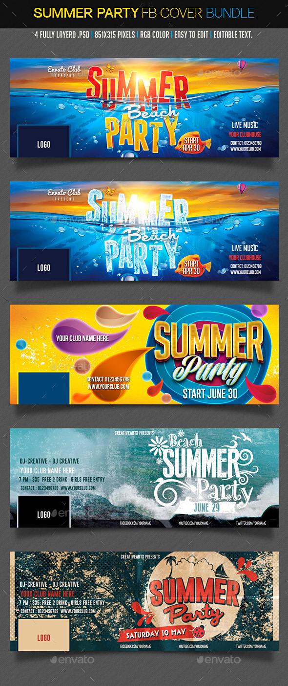 GraphicRiver Summer Facebook Bundle 11838817