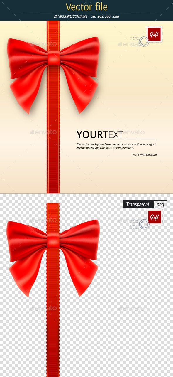 GraphicRiver Letter with Bow Template for Greeting Card 11839703