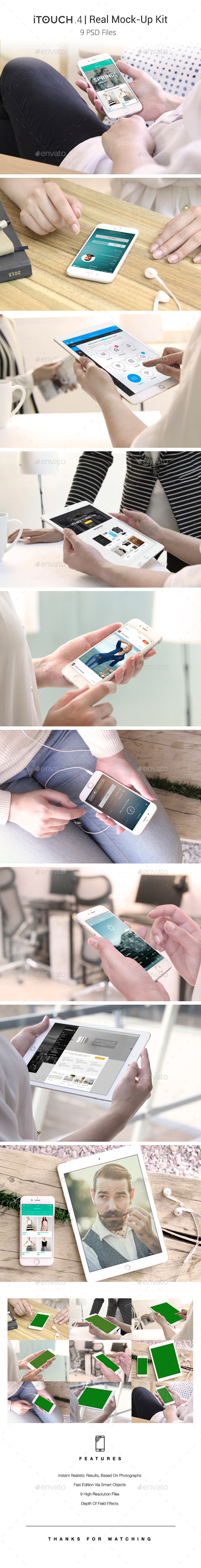 GraphicRiver iTouch 4 09 Photorealistic MockUp 11839823