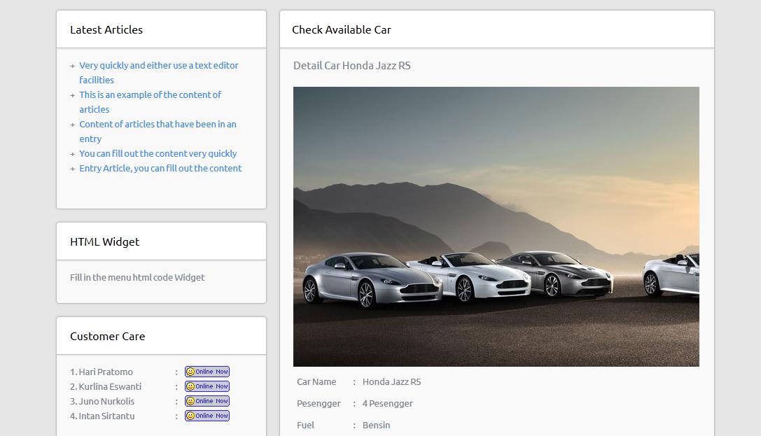 Application Car Rental by klatenweb | CodeCanyon