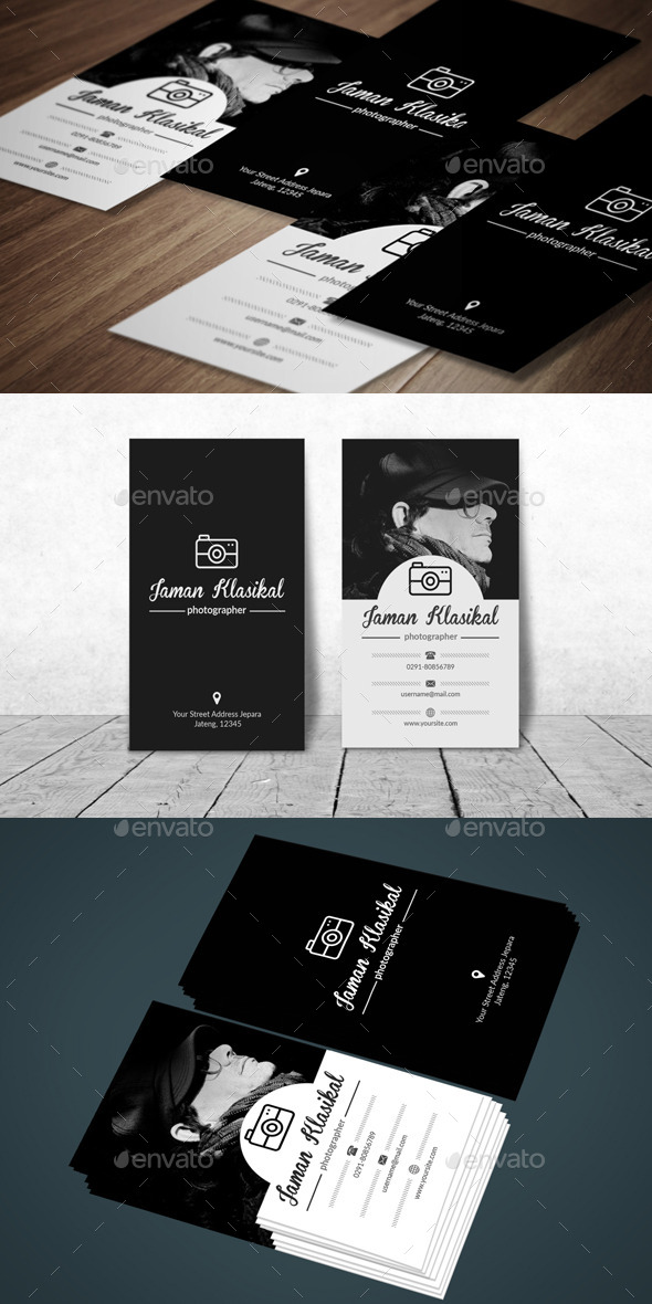 GraphicRiver Clasic Photographer Business Card 11839882