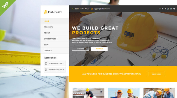ThemeForest Flatbuild Construction Business Wordpress Theme 11767442