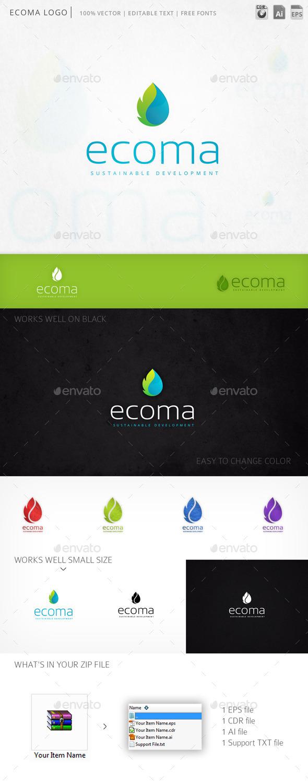 GraphicRiver Ecoma Logo 11840085