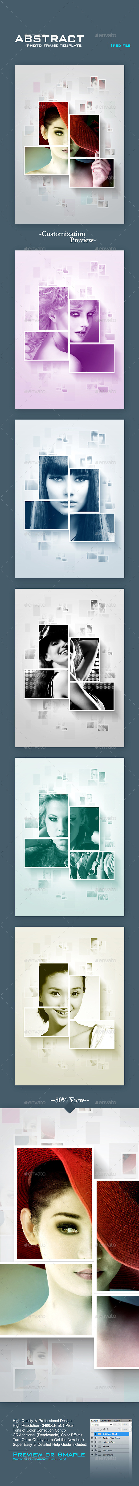GraphicRiver Abstract Photo Frame Template 11840731