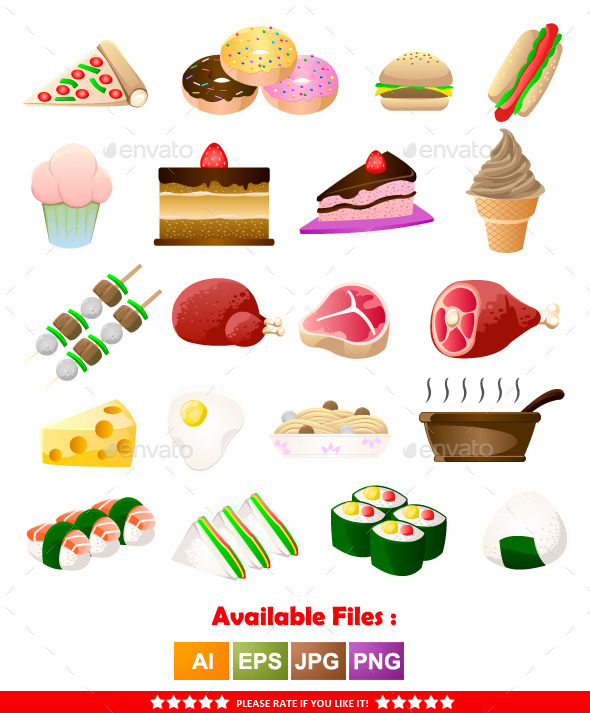 GraphicRiver Food Icons 11840904