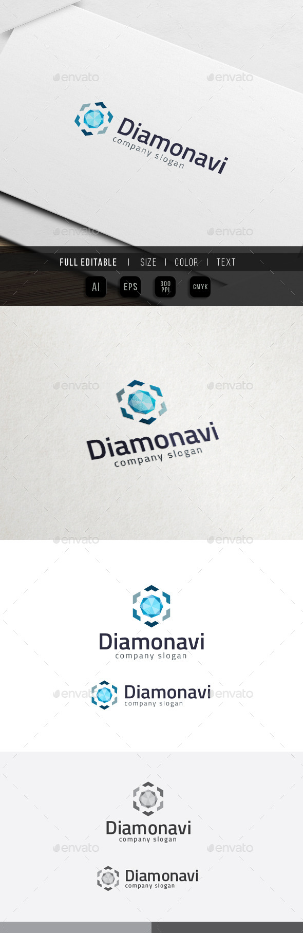 GraphicRiver Diamond Navigation Jewel Store Logo 11841032