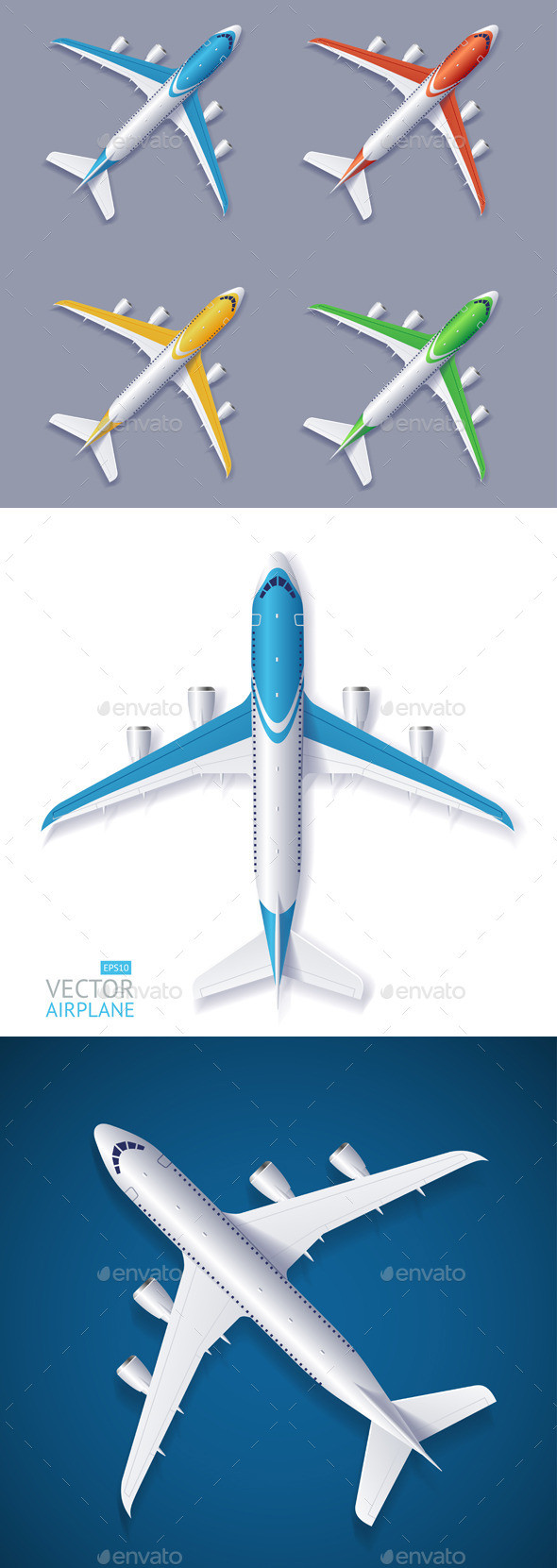 GraphicRiver Vector Airplane Set 11841034