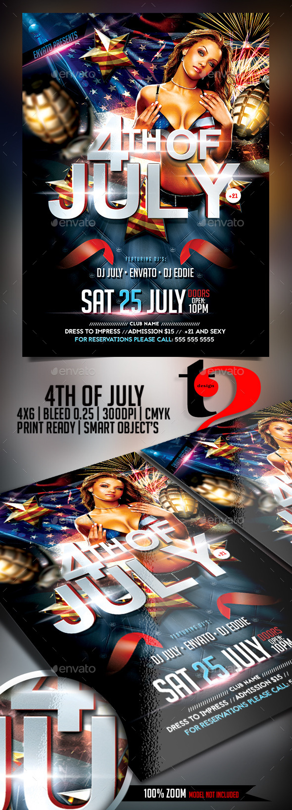 GraphicRiver 4th Of July Party Flyer 11841106