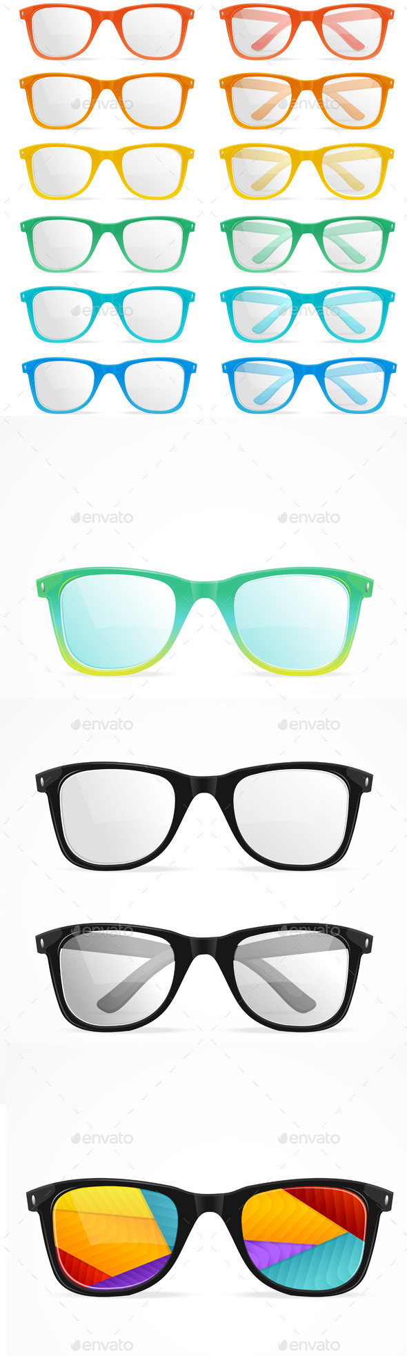 GraphicRiver Vector Glasses Set 11841167