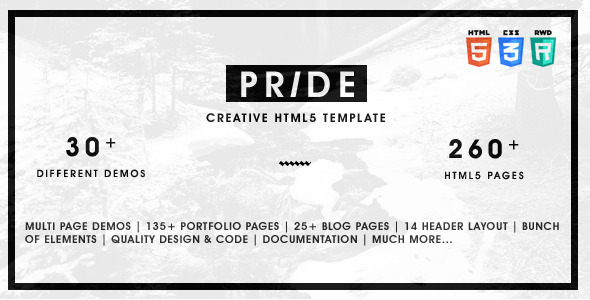 ThemeForest Pride Multipurpose HTML5 Template 11773144