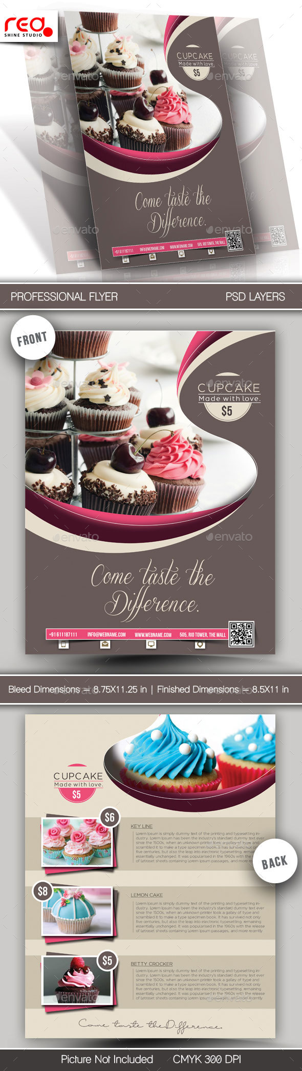 GraphicRiver Cupcake Flyer & Poster Template 1 11841195