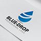 Blue Drop Logo Template