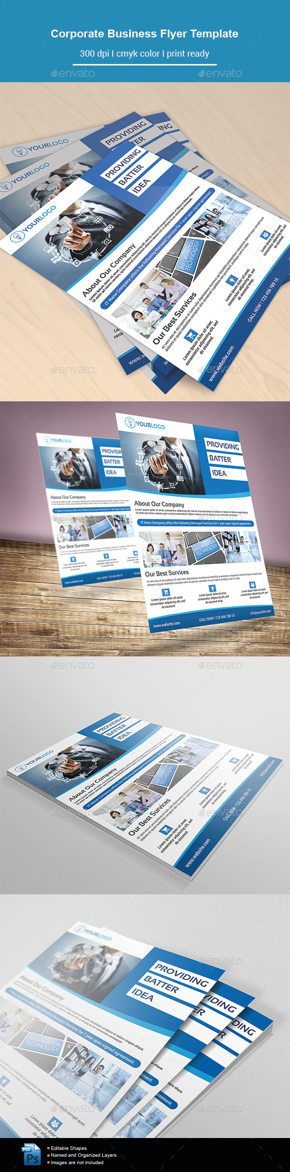 GraphicRiver Corporate Business Flyer Template 11841518