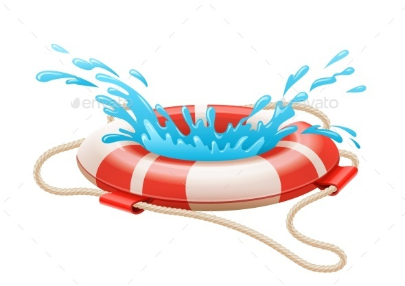 GraphicRiver Life Buoy For Drowning Rescue on Water 11841641