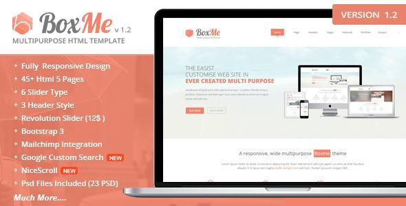 BoxMe Responsive Multipurpose Template