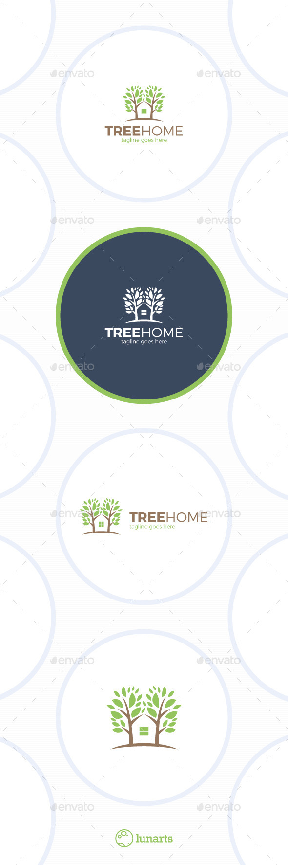 GraphicRiver Tree Home Logo Eco House 11841969