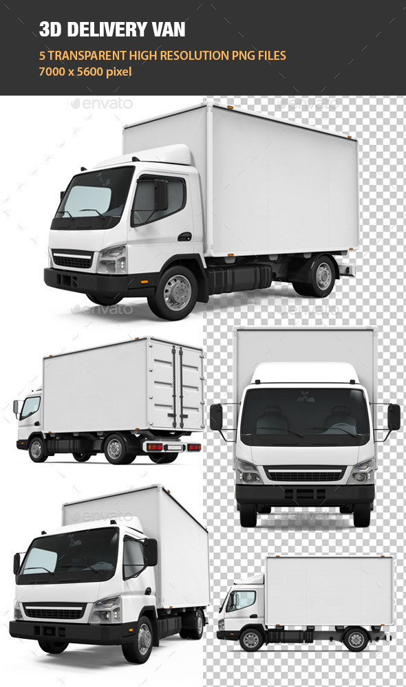 GraphicRiver 3D Delivery Van 11841981