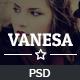 Vanesa PSD Template