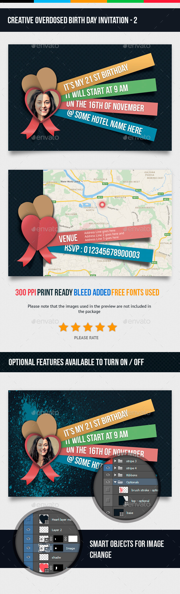 GraphicRiver Birthday Invitation 2 11842358