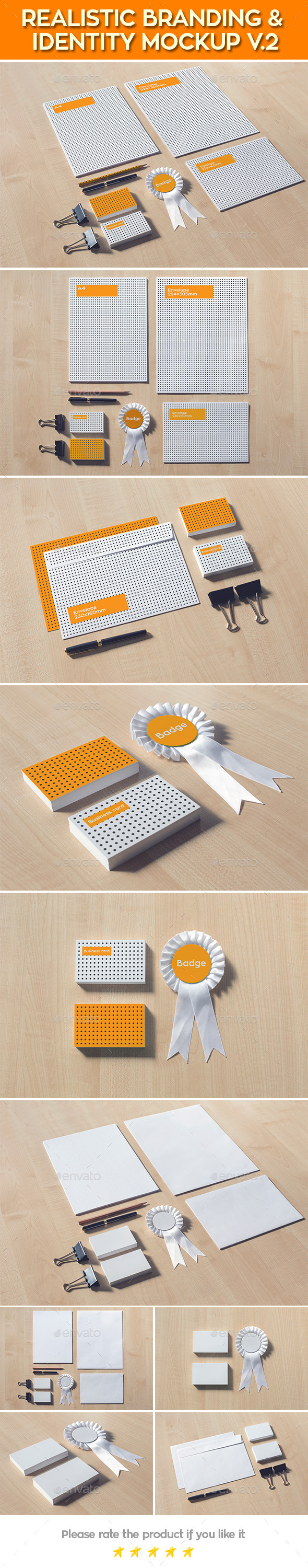 GraphicRiver Realistic Branding & Identity Design Mock-up 11842645