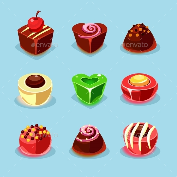 GraphicRiver Sweets And Candies Icons 11842677