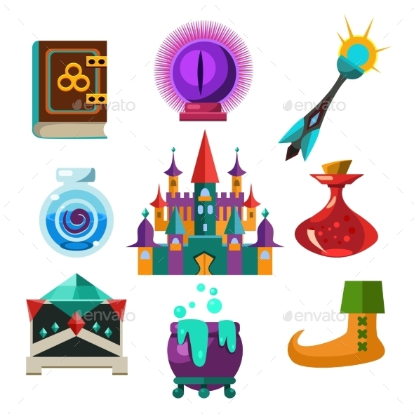 GraphicRiver Collection Of Vector Fairy Tale Elements 11842727