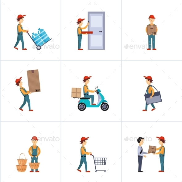 GraphicRiver Delivery Person Freight Logistic Business Service 11842952