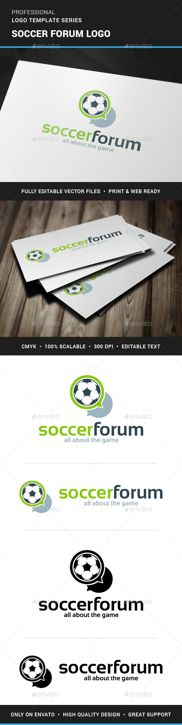 GraphicRiver Soccer Forum Logo Template 11843074