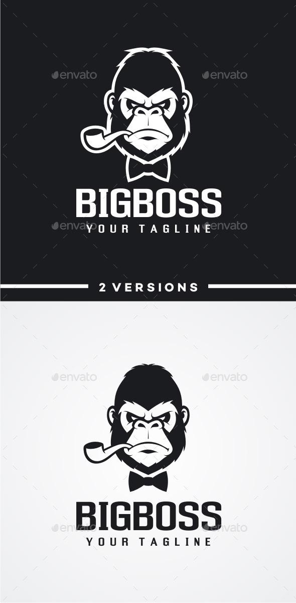 GraphicRiver Big Boss Gorilla Logo 11843662