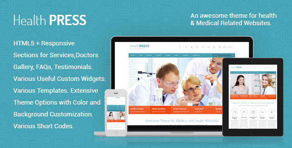 HealthPress - Health and Medical WordPress Theme - Health & Beauty Retail