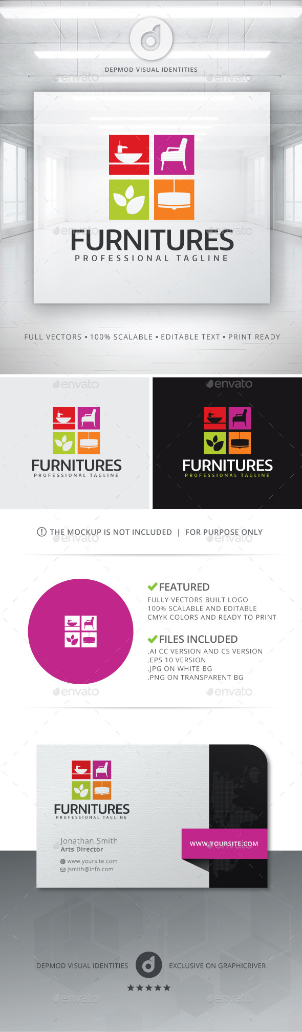 GraphicRiver Furnitures Logo 11843799