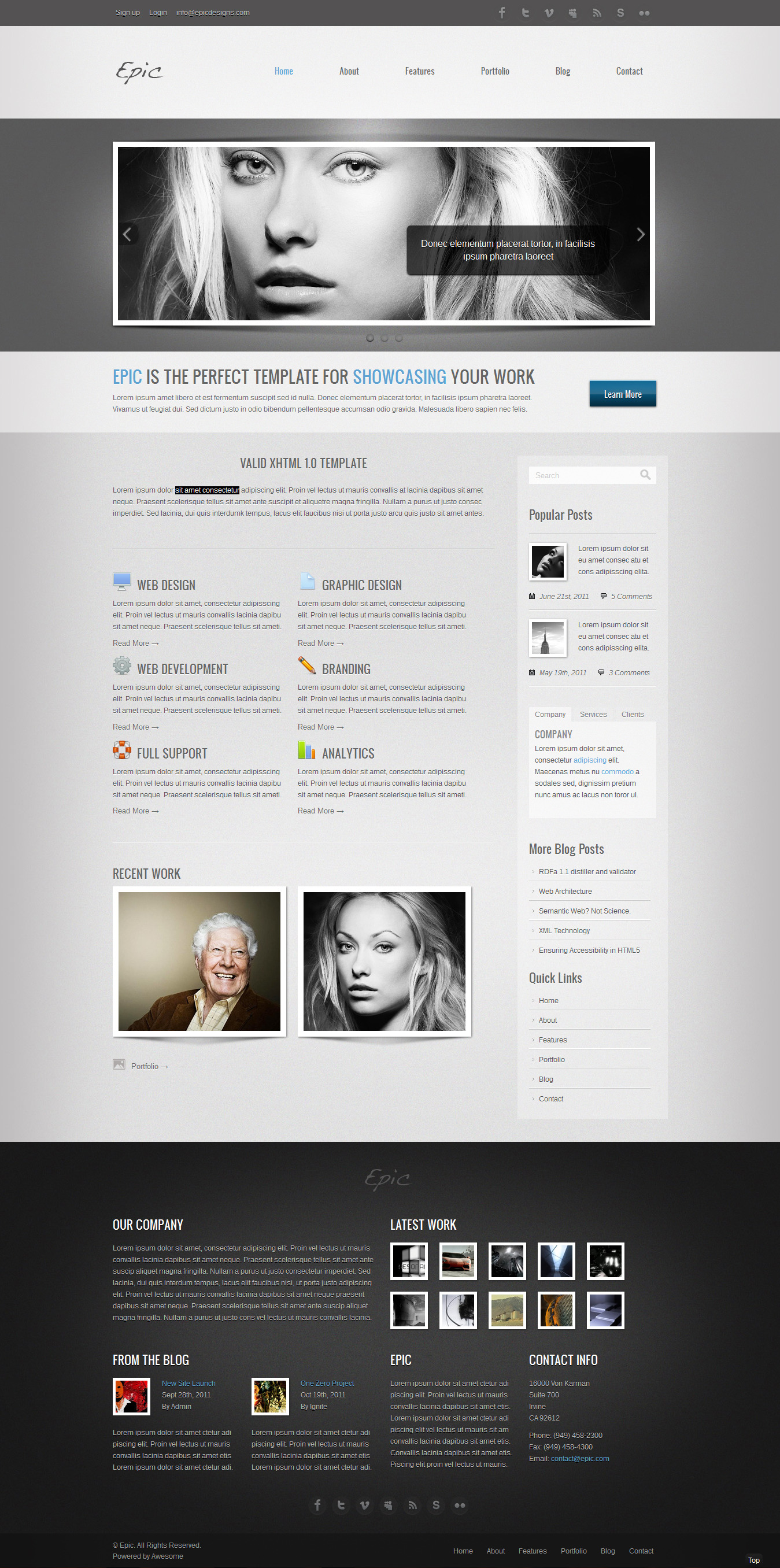 Epic HTML Portfolio Template