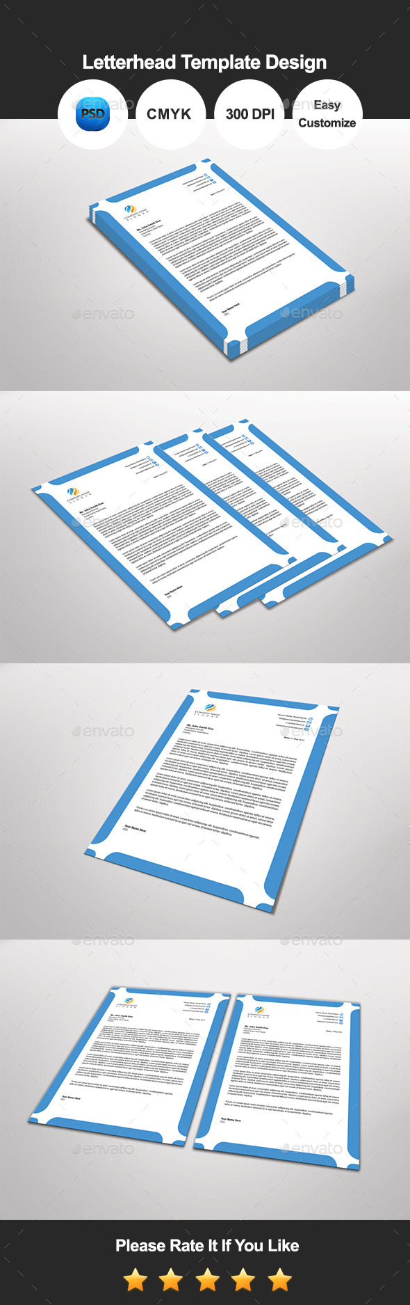 GraphicRiver Jinjil Letterhead Template Design 11843864