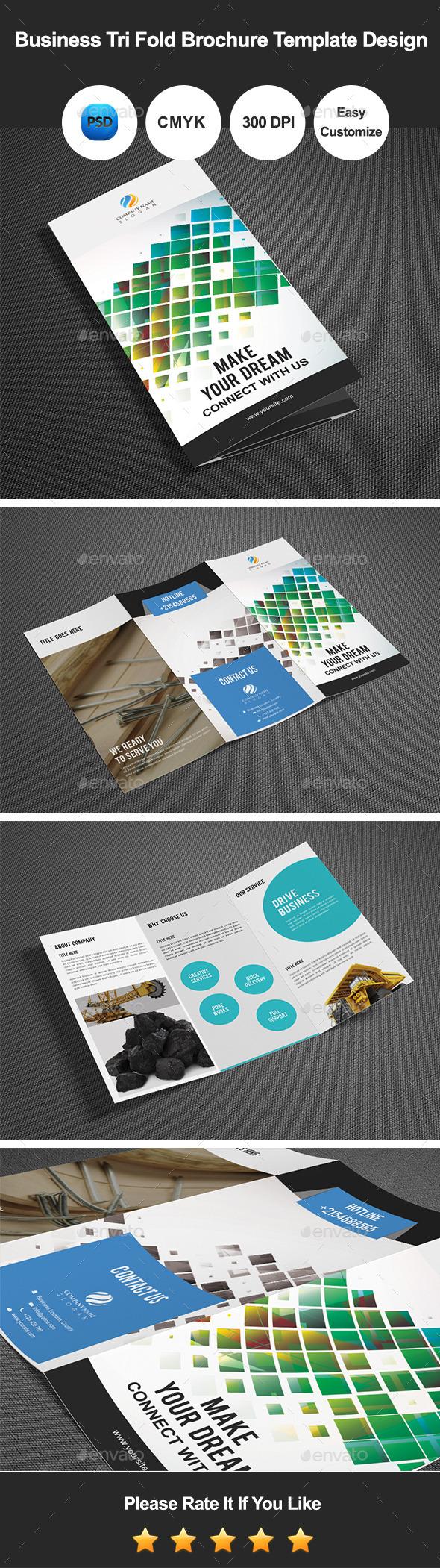 GraphicRiver Business Tri Fold Brochure Template Design 11843989