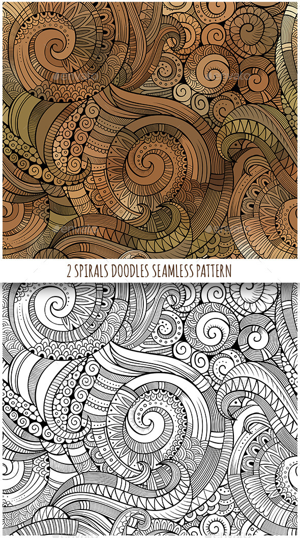 GraphicRiver 2 Spiral Seamless Pattern 11843998