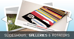 Slideshows, Galleries and Rotators